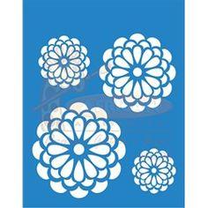 Stencil Flores Redondas 20x25 - OPA