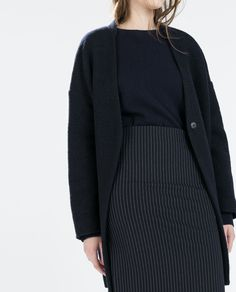 ZARA - COLLECTION PE15 - JUPE TUBE À RAYURES