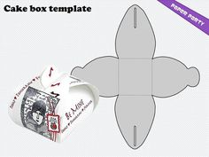 Cake box template in png format whit transparent by whiteddy, $1.40