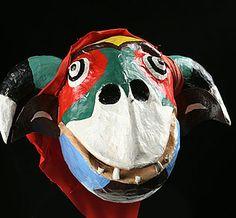 Yare Diablo mask?  Festival of Corpus Christi, Venezuela painted papier mache