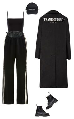 """Black look"" by djulia-tarasova ❤ liked on Polyvore featuring Morgan Lane, Balenciaga, Dr. Martens and Alexander Wang"