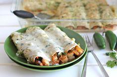 shrimp enchiladas w/jalapeno cream sauce