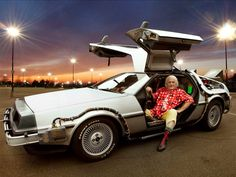 Over 25 years since Doc Brown's DeLorean time machine was first created, it's being given a comprehensive and long-overdue restoration. Dmc Delorean, Delorean Time Machine, J Birds, Doc Brown, Unique Cars, Michael J, Back To The Future, Concept Cars, Hot Wheels