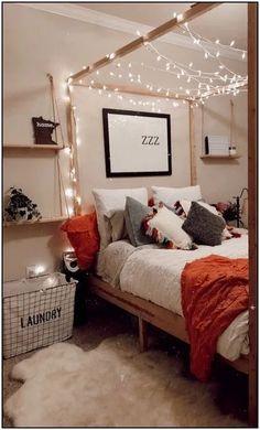 Home Design Bedroom . Home Design Bedroom . Brighten Your Space with these Impressive Bedroom Lighting Fall Bedroom Decor, Decoration Bedroom, Bedroom Themes, Decoration Table, Teen Bedroom, Bedroom Sets, Modern Bedroom, Diy Bedroom, Bedroom Designs