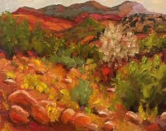 "Jemez Arroyo  8x10"" Art Paintings For Sale, Fine Art, Visual Arts"