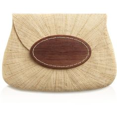 mar Y sol Opal Clutch ($100) ❤ liked on Polyvore featuring bags, handbags, clutches, mar y sol, summer handbags, brown handbags, brown purse and mar y sol handbags