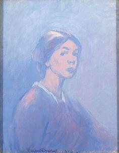 Thesleff, Ellen (Finnish, - Self-Portrait 1916 Daily Painting, Fine Art, Painter, Illustration, Painting, Rainbow Colors, Art, Portrait Painting, Schjerfbeck