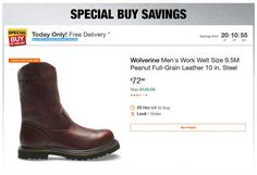 Home Depot Deals - Up to off Select Workwear and Gear Home Depot Coupons, Steel Toe Work Boots, Workwear, Chelsea Boots, The Selection, Brown, Leather, Stuff To Buy, Men