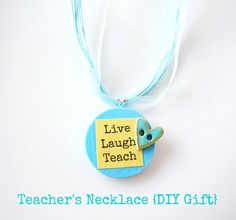 Teachers Necklace {DIY Gift} by Everything Etsy
