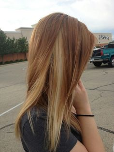 Brown and blonde hair