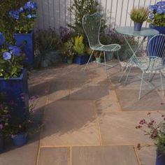 #Bradstone Colonial Brown Natural Sandstone Paving Slab #Colonial Brown Natural Sandstone Paving Slab (L)600 (W)600mm Pack of 48. (Barcode EAN=5015111216894)