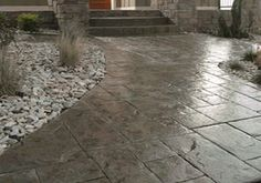stamped concrete sidewalks driveways