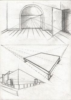Lignes et Formations: initiation au dessin de perspective devoir n°1 - Les pieds dans l'eau