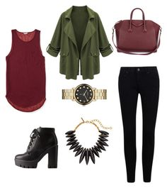 """""""Untitled #8"""" by fannyaleksei on Polyvore featuring Aéropostale, Charlotte Russe, Givenchy, Marc by Marc Jacobs and Oscar de la Renta"""