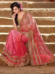 Pale Pink Designer Saree