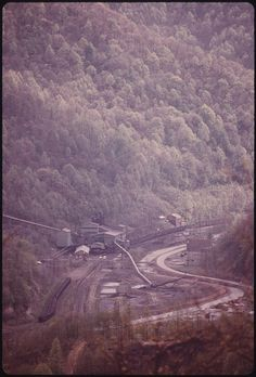 Coal Tipple brings the coal down the mountain and into the coal cars for transit. Logan, West Virginia.