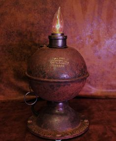 Steampunk Highway Torch Lamp Machine Age Industrial Art Nostalgia Route 66