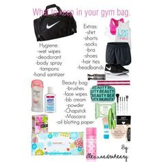 c21e48e9b8a2 What to keep in your gym bag Gymnastics Bags