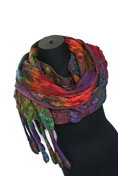This is beautiful! Nuno Felted Textured Scarf