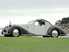 1934 Voisin C27 Aerosport -   While Voisin made many unique and interesting cars based on his vast aircraft knowledge, none are as breathtakingly distinct as this C27 Aerosport. With a clever mix of French curves and Voisin's art deco touches, it is one of the most deserving cars to be labeled as rolling sculpture.