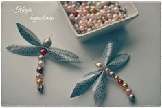 Unelmista totta ♥: Diy sudenkorento-heijastimet Beaded Crafts, Crafty Craft, Projects To Try, Dragonflies, Beads, Lovely Things, Diy Ideas, Gifts, Jewelry