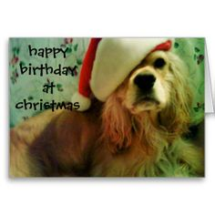 HAPPY CHRISTMAS BIRTHDAY TO YOU CARDS