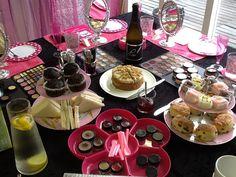 Makeup Party Goodies & Layout via Visagieworkshop & High Tea met bubbles