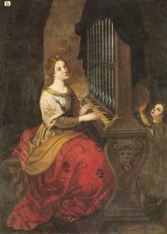 Saint Cecilia at the organ (séc. XVII), Monare Nicola