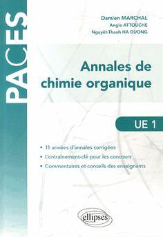 Annales de chimie organique UE 1 - Damien Marchal :