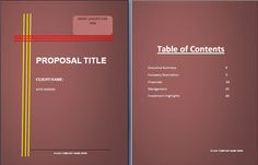 Bank Loan Proposal Template Awesome Project Proposal Template  Pinterest  Project Proposal Proposal .