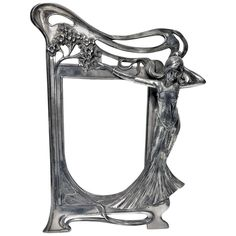 Rare Art Nouveau Frame, WMF Germany circa 1905 | From a unique collection of antique and modern picture frames at https://www.1stdibs.com/furniture/decorative-objects/picture-frames/