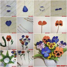 If you like doing crafts with beads, here is a nice tutorial for you to make beautiful flowers with beads. Isn't it creative? Go find some colorful beads and let's give it a try.