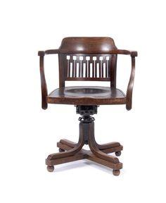 Unique Otto Wagner Swivel Chair c