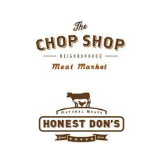 Meat Shop Logo Restaurant Branding Ideas For 2019 Typography Letters, Typography Logo, Typography Design, Lettering, Packaging Inspiration, Logo Inspiration, Packaging Design, Branding Design, Logo Design