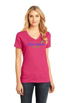 Womens Genesis Pure Tri-Blend T-Back Tank in Pink  Price: $22.95