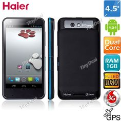 "(HAIER) W910 4.5"" IPS Water proof Qualcomm MSM8260A 2-core Android 4.0.4 3G GPS Phone+ 8MP CAM (1GB RAM + 8GB ROM) P05-W910 - TinyDeal.com"