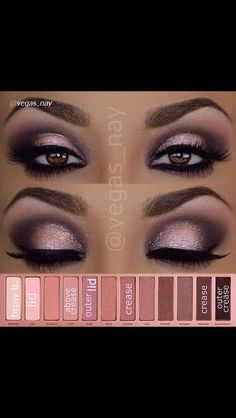 Love the color palette, but could do without the sparkles, or the lower eyes. Love the arch in the eyes, the blending out to the eyebrows for coloring and the overall shape of the lid.