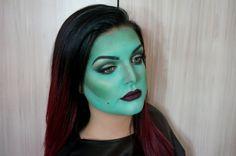 maquillaje-bruja-como-disfrazarse-de-una-bruja-típica-paso-a-paso-piel-pintada-en-verde Color Borgoña, Diy, Romantic Makeup, How To Disguise Yourself, Wicked Witch, Painted Fur, Pale Skin, Bricolage, Do It Yourself
