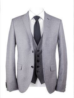 2-BUTTON FRAGOSTO BLAZER WITH EXTRA GILET SLIM FIT
