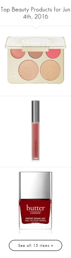 """""""Top Beauty Products for Jun 4th, 2016"""" by polyvore ❤ liked on Polyvore featuring beauty products, makeup, palettes, mineral cosmetics, becca cosmetics, spray makeup, highlight makeup, palette makeup, lip makeup and lip gloss"""