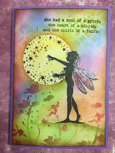She was unique! Lavinia Stamps Cards, Fairy Quotes, Fairy Silhouette, Crafters Companion Cards, Fairy Pictures, Ink Stamps, Tampons, Fairy Art, Copics
