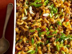 Macaroni-and-Beef Casserole | This hearty cumin-scented macaroni-and-beef casserole has an irresistible cheesy-crisp topping.