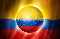 Football with flag of colombia — Stock Photo © Mishchenko #44140079