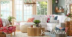 Get inspired with living room ideas and photos for your home refresh or remodel. Wayfair offers thousands of design ideas for every room in every style. Estilo Cottage, Living Room Decor, Bedroom Decor, Saloon, Joss And Main, Beautiful Homes, Outdoor Furniture Sets, Bohemian Furniture, Family Room