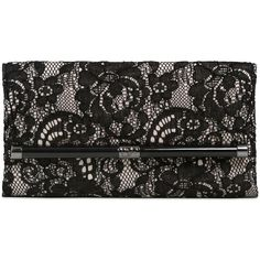 DIANE VON FURSTENBERG 440 Envelope Lace On Leather Clutch - Black/Nude (5 825 UAH) ❤ liked on Polyvore featuring bags, handbags, clutches, purses, laukut, black leather handbags, genuine leather handbags, lace purse i leather handbags