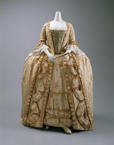 Robe a la Francaise, French, ca. 1775-1800 (Metropolitan Museum of Art) by harriet
