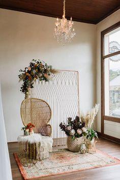 Autumn hues, bohemian vibes, and bridal fashion that exudes a free spirited elegance?' Because the pretty. Wedding Stage, Boho Wedding, Bohemian Weddings, Bohemian Bride, Forest Wedding, Woodland Wedding, Indian Weddings, Mermaid Wedding, Wedding Reception