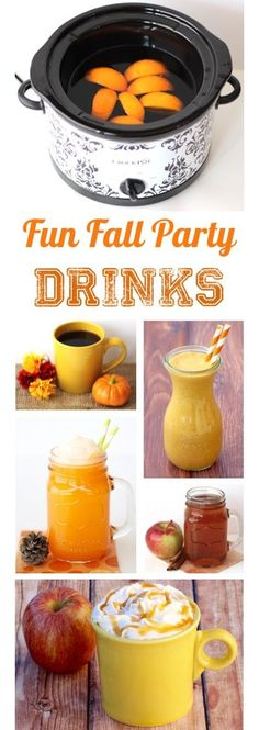 Fun Fall Party Drinks! You'll love these Easy Drink Recipes for family gatherings, holidays, and fall parties with friends! | TheFrugalGirls.com