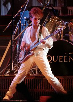 John Deacon. The Works Tour - 1984. (Repinned from someone who actually knows what they're talking about.)