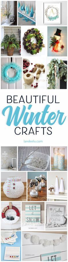 I love these beautiful winter crafts! My favorite is the Let it Snow sign.